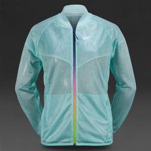 Nike Teal Mesh zip up jacket - Size Medium